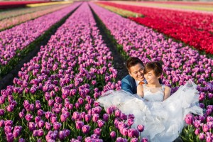 prewedding keukenhof, tulip fields