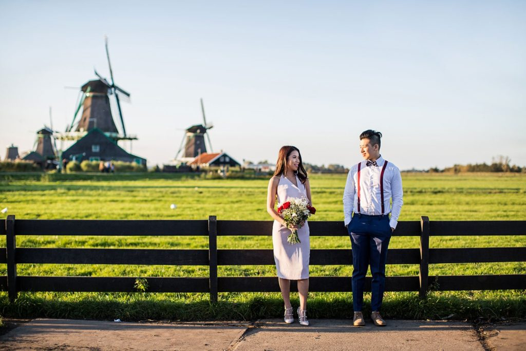 Prewedding Holland windmills